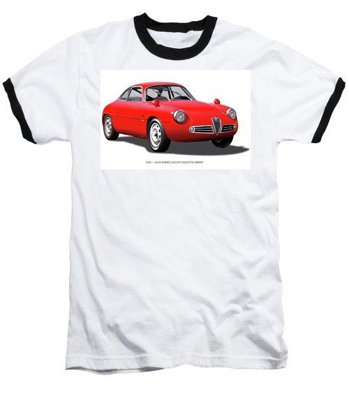 1960 Alfa Romeo Zagato Giulietta Sprint Baseball T-Shirt by Alain Jamar