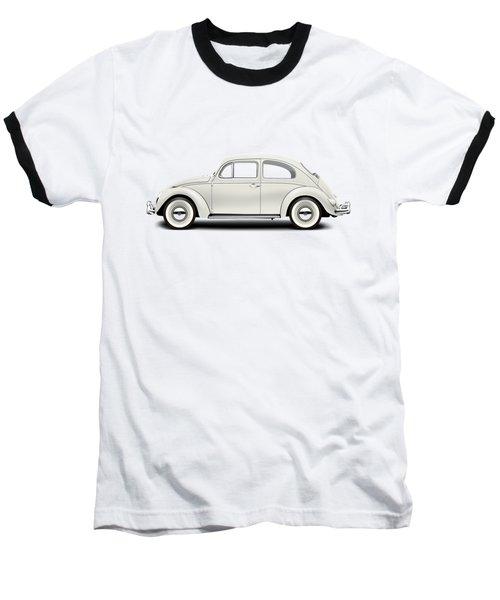 1961 Volkswagen Deluxe Sedan - Pearl White Baseball T-Shirt by Ed Jackson
