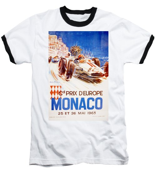 1963 F1 Monaco Grand Prix  Baseball T-Shirt