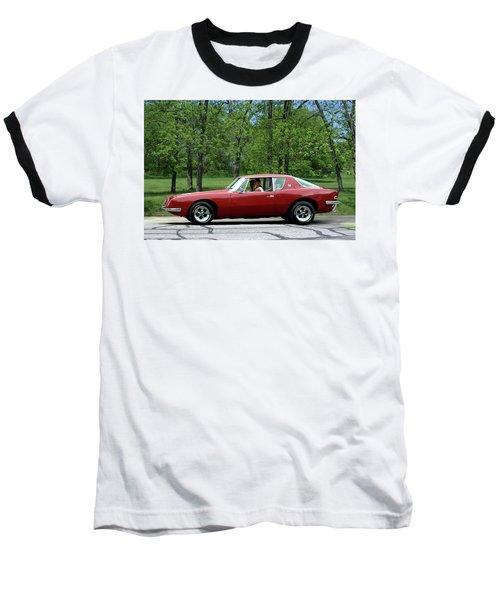 1963 Studebaker Avanti Coupe Baseball T-Shirt by Tim McCullough