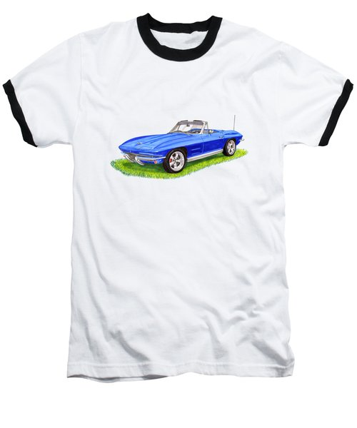 1964 Corvette Stingray Baseball T-Shirt by Jack Pumphrey