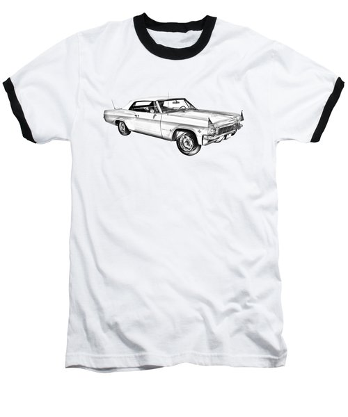 1965 Chevy Impala 327 Convertible Illuistration Baseball T-Shirt