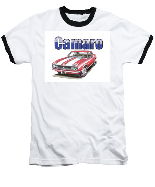 Baseball T-Shirt featuring the digital art 1967 Camaro by Thomas J Herring
