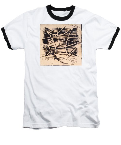 Baseball T-Shirt featuring the painting 1967 by Erika Chamberlin