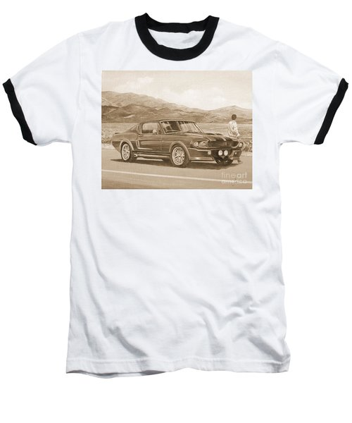 1967 Ford Mustang Fastback In Sepia Baseball T-Shirt