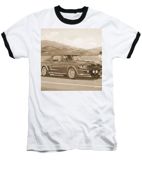 1967 Ford Mustang Fastback In Sepia Baseball T-Shirt