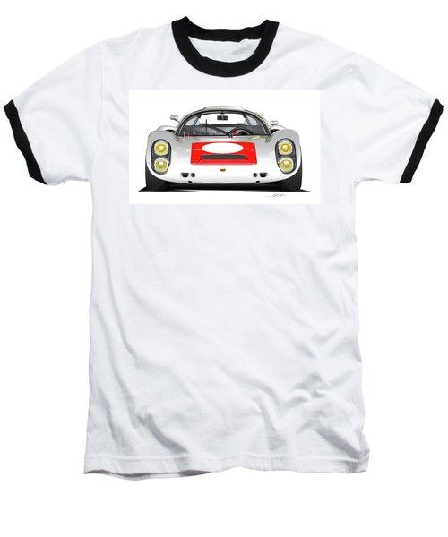1967 Porsche 910 Illustration Baseball T-Shirt