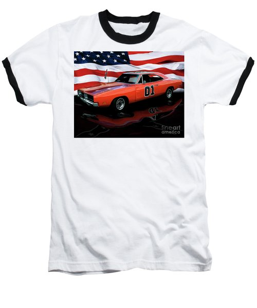 Baseball T-Shirt featuring the photograph 1969 General Lee by Peter Piatt