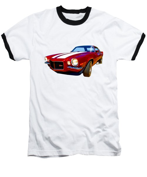 1971 Z28 Camaro Hdr Vivid Remembrance Baseball T-Shirt