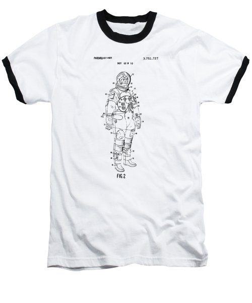 1973 Astronaut Space Suit Patent Artwork - Vintage Baseball T-Shirt