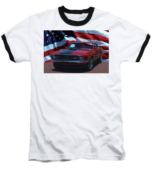 1970 Mustang Mach I Baseball T-Shirt by Tim McCullough
