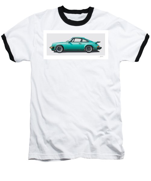 1976 Porsche Euro Carrera 2.7 Illustration Baseball T-Shirt