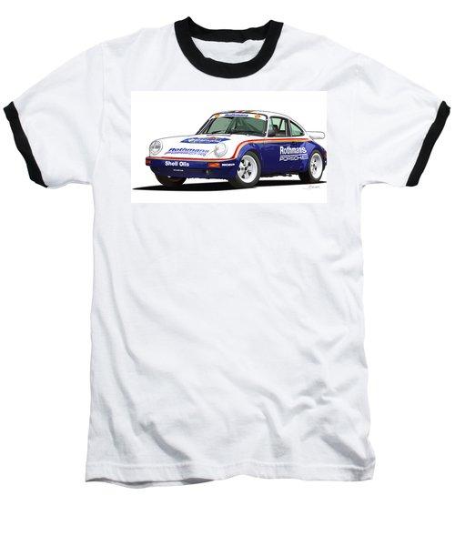 1984 Porsche 911 Sc Rs Illustration Baseball T-Shirt by Alain Jamar