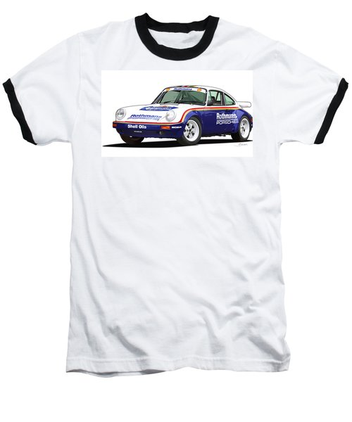 1984 Porsche 911 Sc Rs Illustration Baseball T-Shirt