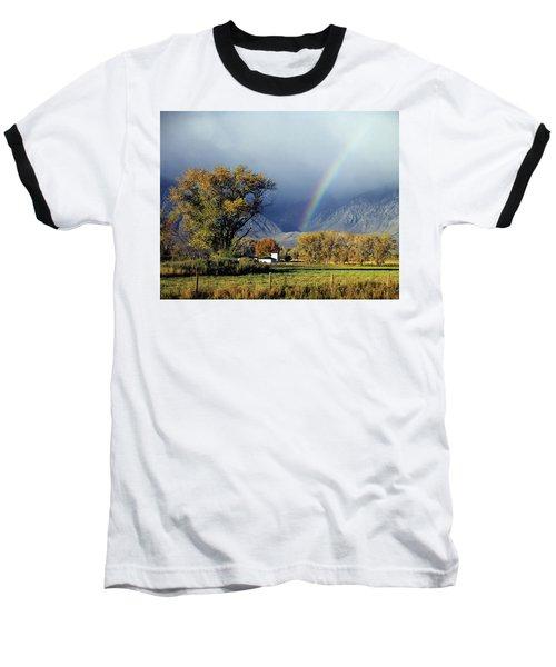 1m6345 Rainbow In Sierras Baseball T-Shirt