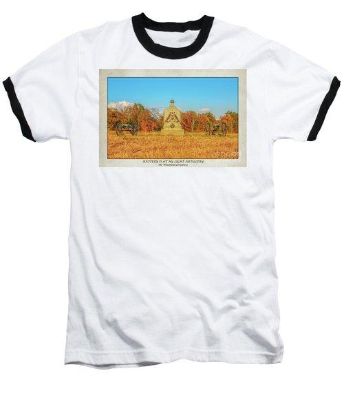 1st New York Battery D Gettysburg Poster Baseball T-Shirt