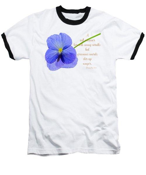 A Soft Answer Baseball T-Shirt
