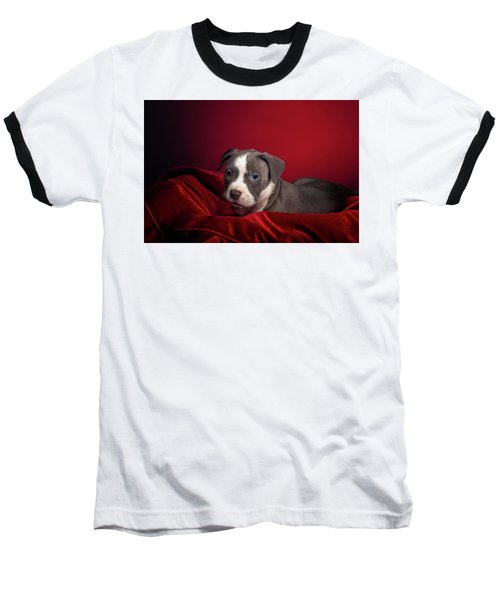 American Pitbull Puppy Baseball T-Shirt