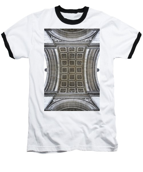 Arc De Triomphe Detail Baseball T-Shirt