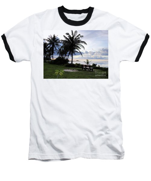Asan Beach Guam Baseball T-Shirt