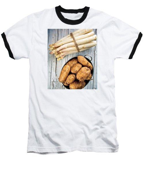 Asparagus Baseball T-Shirt by Nailia Schwarz