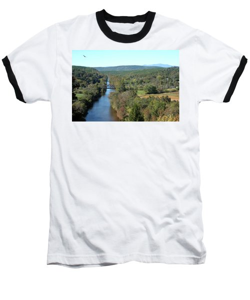 Autumn Landscape With Tye River In Nelson County, Virginia Baseball T-Shirt by Emanuel Tanjala