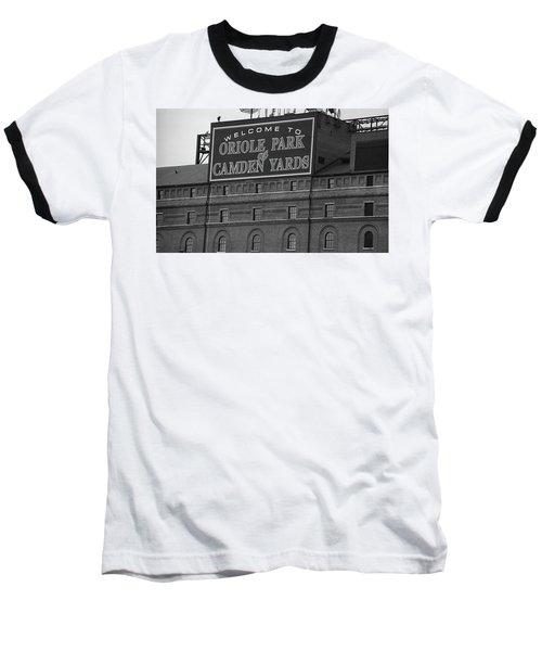 Baltimore Orioles Park At Camden Yards Bw Baseball T-Shirt