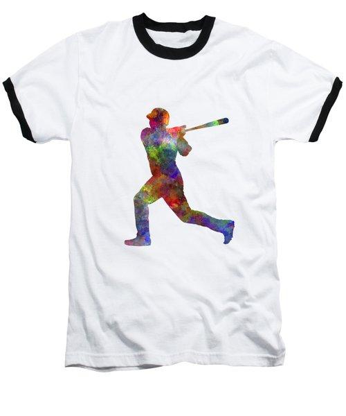 Baseball Player Hitting A Ball Baseball T-Shirt by Pablo Romero