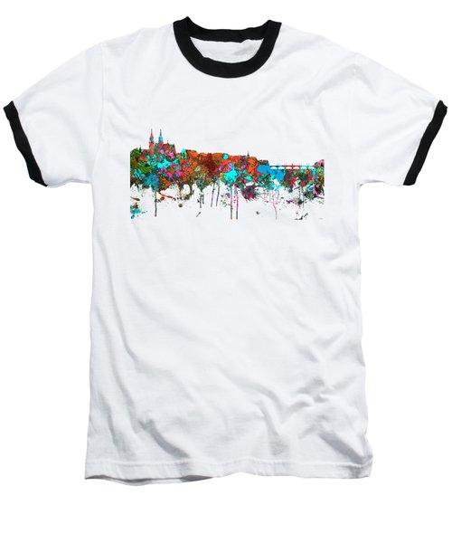 Basle Switzerland Skyline Baseball T-Shirt by Marlene Watson