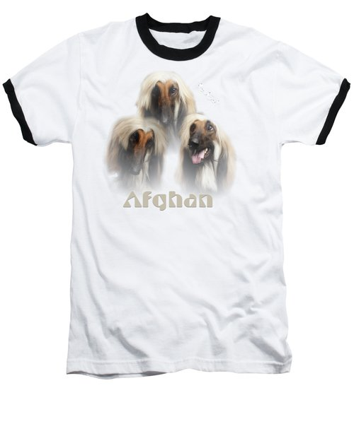 Beautiful Afghan Hound  Baseball T-Shirt