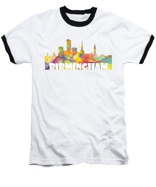 Birmingham England Skyline Baseball T-Shirt