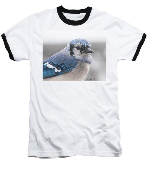 Blue Jay In A Blizzard Baseball T-Shirt