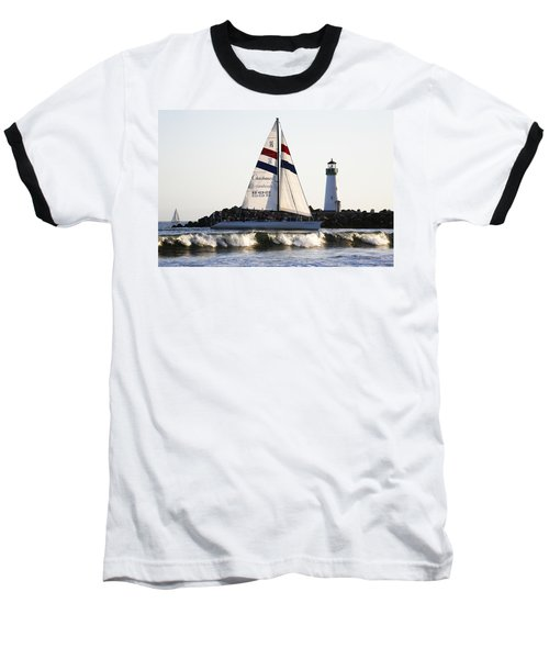 2 Boats Approach Baseball T-Shirt
