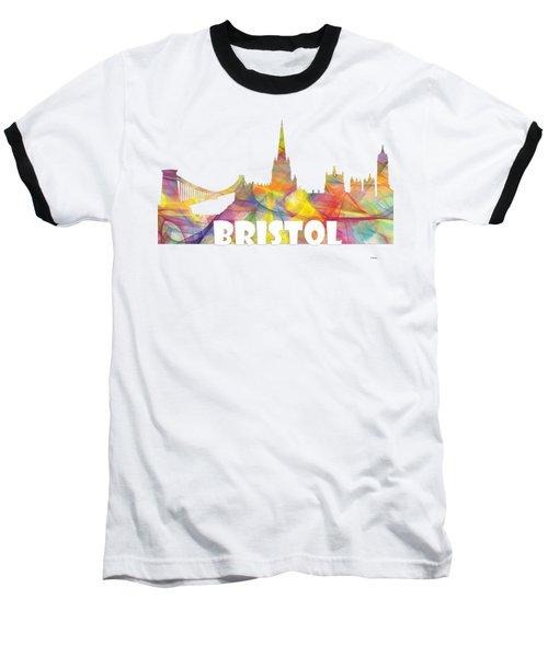 Bristol England Skyline Baseball T-Shirt