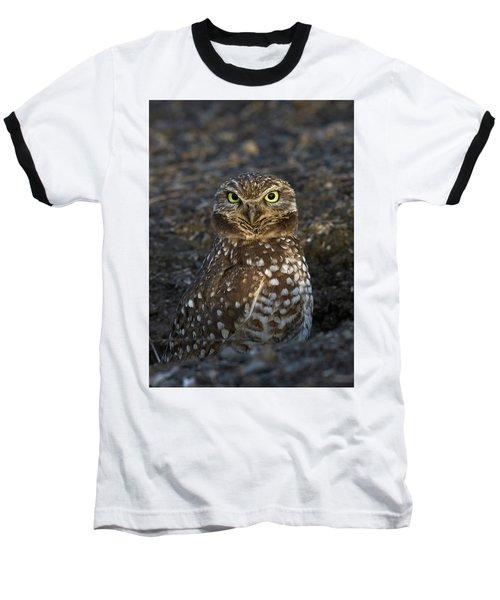 Baseball T-Shirt featuring the photograph Burrowing Owl by Doug Herr