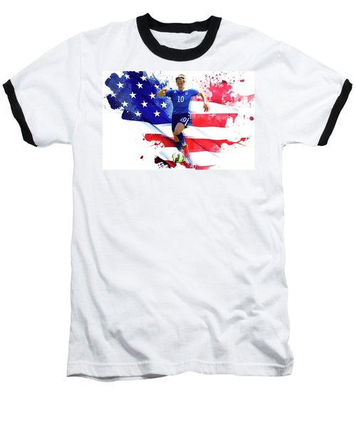 Carli Lloyd Baseball T-Shirt by Semih Yurdabak