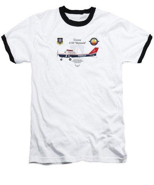 Cessna 172s Skyhawk Baseball T-Shirt by Arthur Eggers