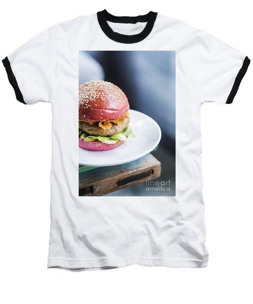 Chicken Burger With Gherkins Beetroot Bread Bun Baseball T-Shirt