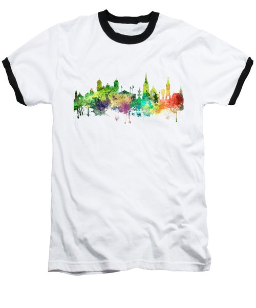 Christchurch Nz Skyline Baseball T-Shirt