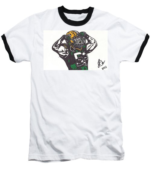 Baseball T-Shirt featuring the drawing Clay Matthews 2 by Jeremiah Colley