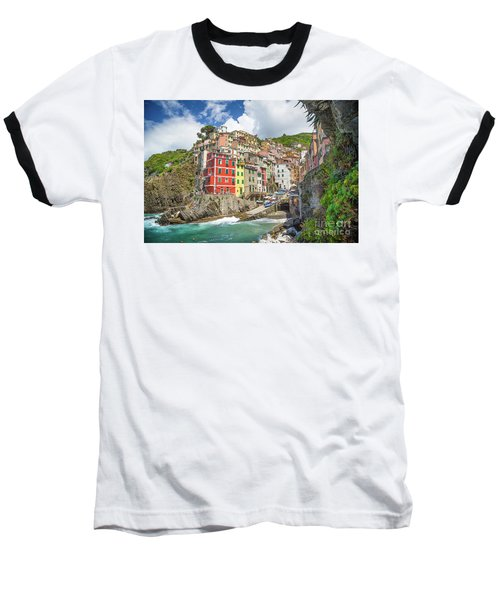 Colors Of Cinque Terre Baseball T-Shirt
