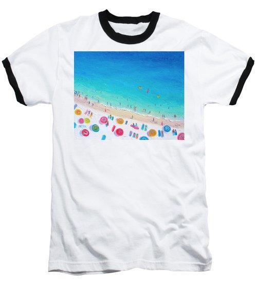 Colors Of The Beach Baseball T-Shirt by Jan Matson