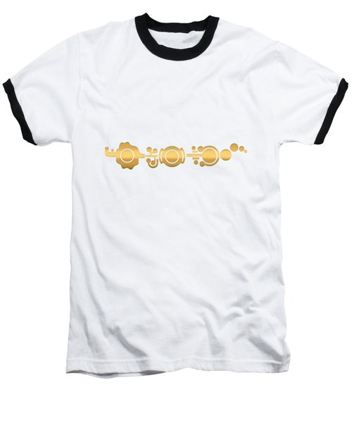 Crop Circle Formation Near Market Harborough In Leicestershire England In Gold Baseball T-Shirt