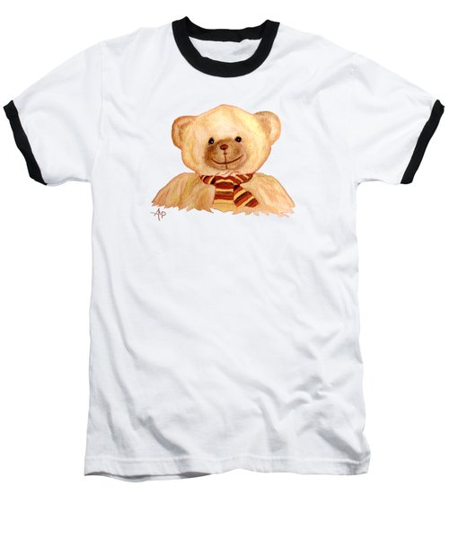 Cuddly Bear Baseball T-Shirt by Angeles M Pomata