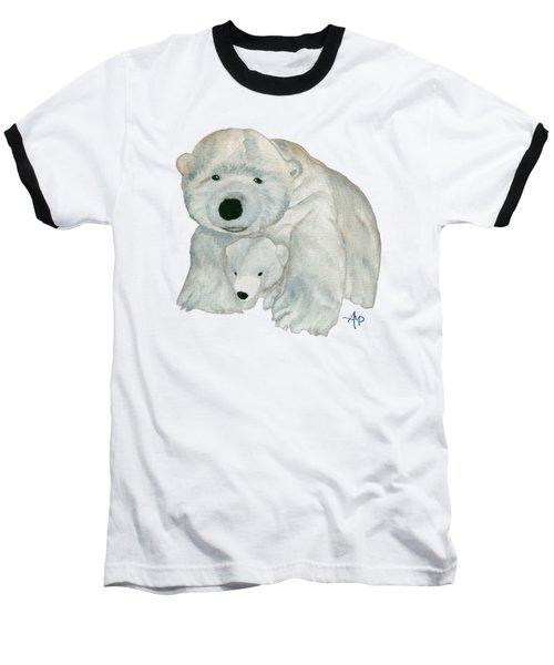 Cuddly Polar Bear Baseball T-Shirt