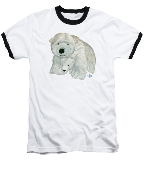 Cuddly Polar Bear Baseball T-Shirt