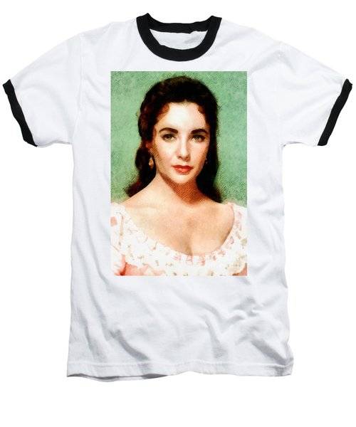 Elizabeth Taylor Hollywood Actress Baseball T-Shirt