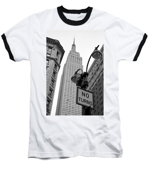 Empire State Building Baseball T-Shirt by Michael Dorn