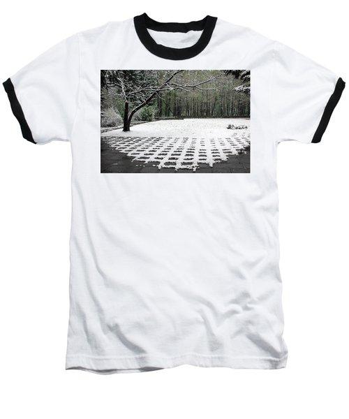 First Snow Fall Baseball T-Shirt by Vladimir Kholostykh