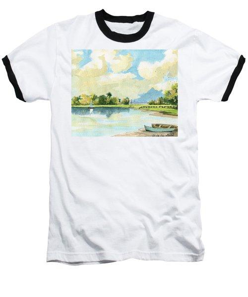 Fishing Lake Baseball T-Shirt